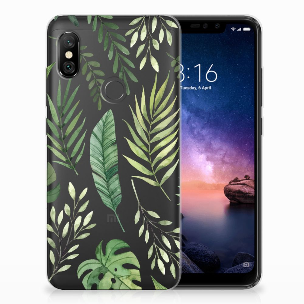 Xiaomi Redmi Note 6 Pro TPU Case Leaves