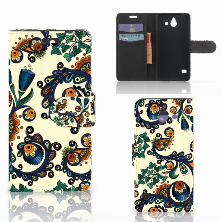 Wallet Case Huawei Ascend Y550 Barok Flower