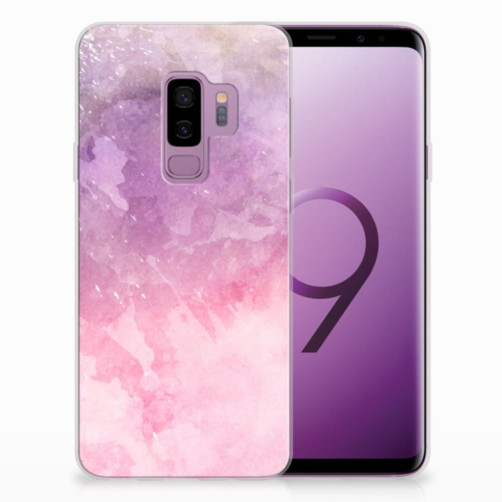 Samsung Galaxy S9 Plus TPU Hoesje Design Pink Purple Paint