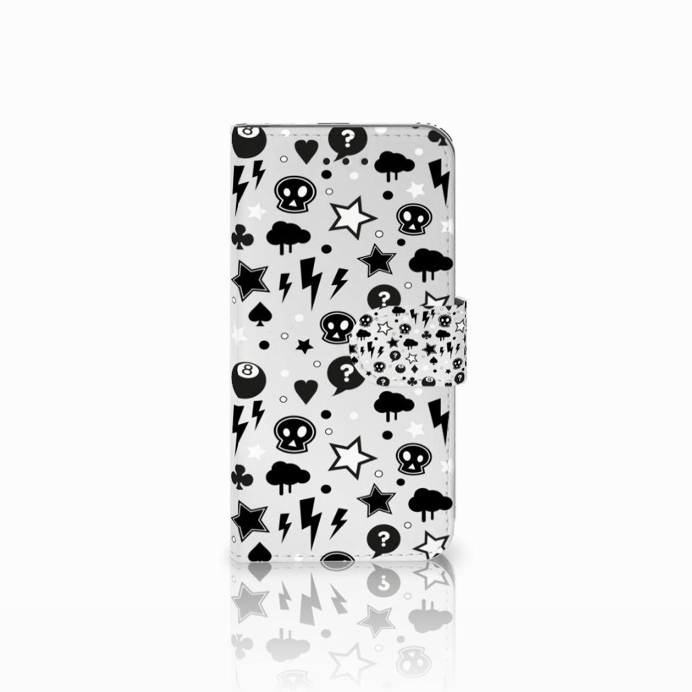 Apple iPhone X | Xs Uniek Boekhoesje Silver Punk