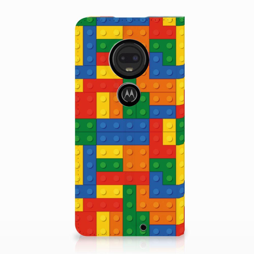 Motorola Moto G7 | G7 Plus Standcase Hoesje Design Blokken