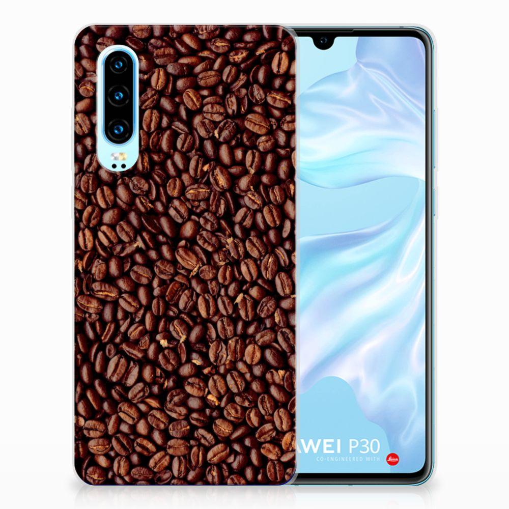 Huawei P30 Siliconen Case Koffiebonen