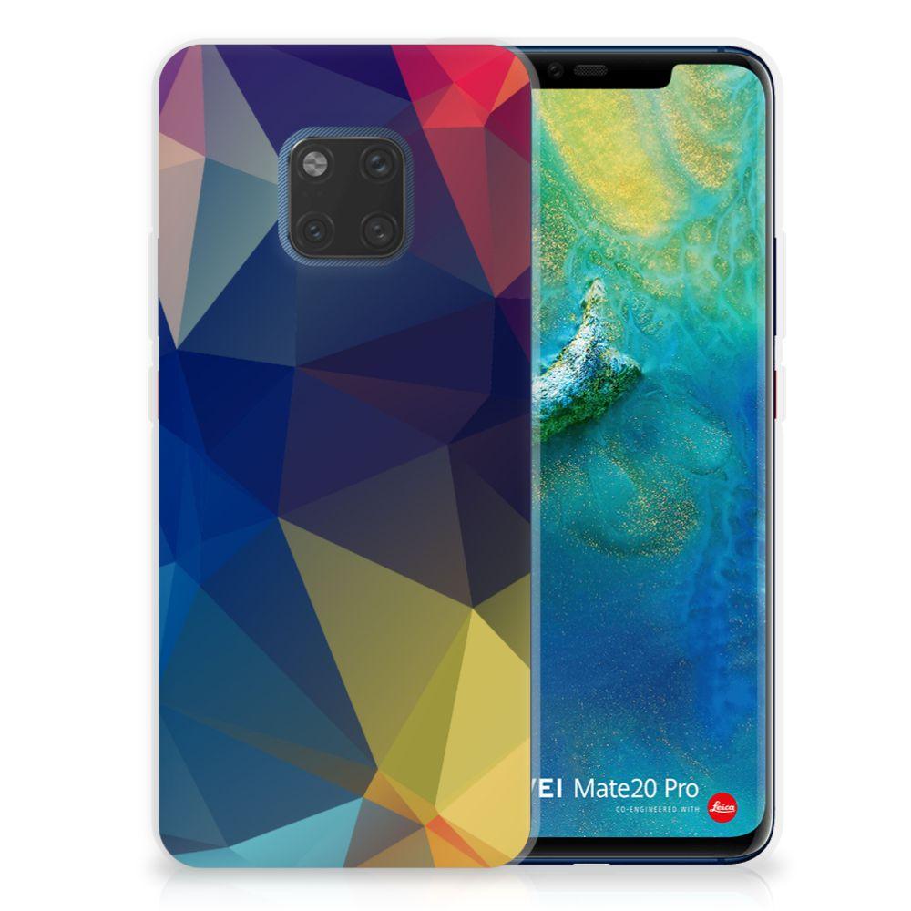 Huawei Mate 20 Pro TPU Hoesje Polygon Dark