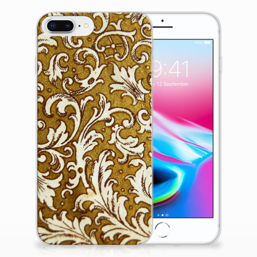 Apple iPhone 7 Plus | 8 Plus TPU Hoesje Design Barok Goud