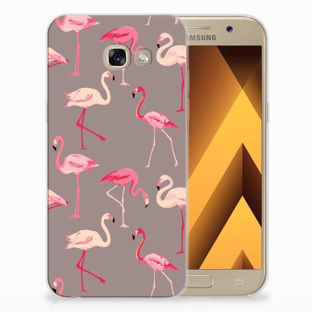 Samsung Galaxy A5 2017 Uniek TPU Hoesje Flamingo