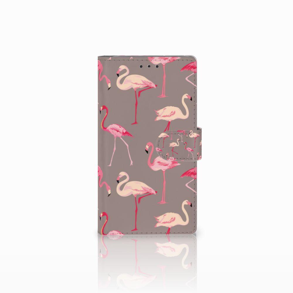 Samsung Galaxy Note 3 Uniek Boekhoesje Flamingo