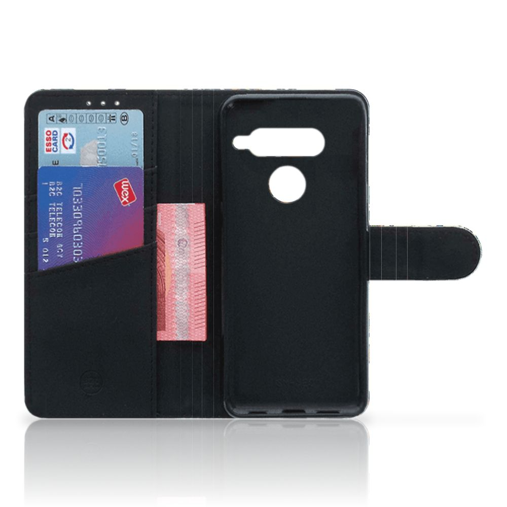 Wallet Case LG V40 Thinq Barok Flower