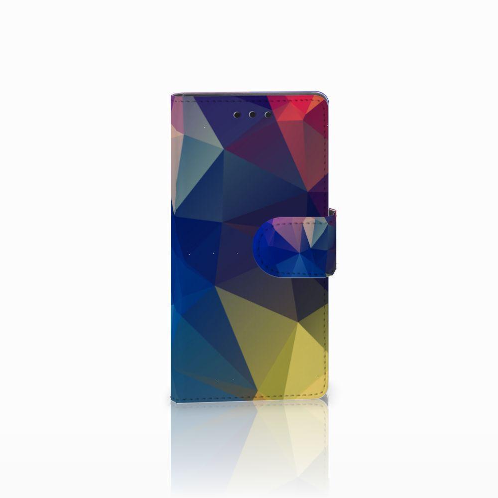Sony Xperia Z5 Compact Uniek Boekhoesje Polygon Dark
