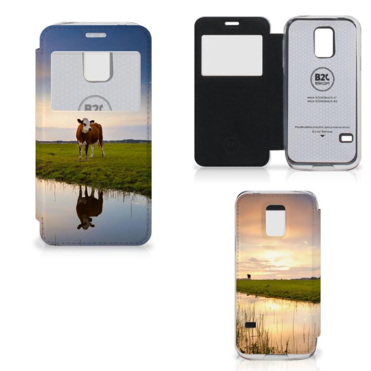Samsung Galaxy S5 Mini Telefoonhoesje met Pasjes Koe