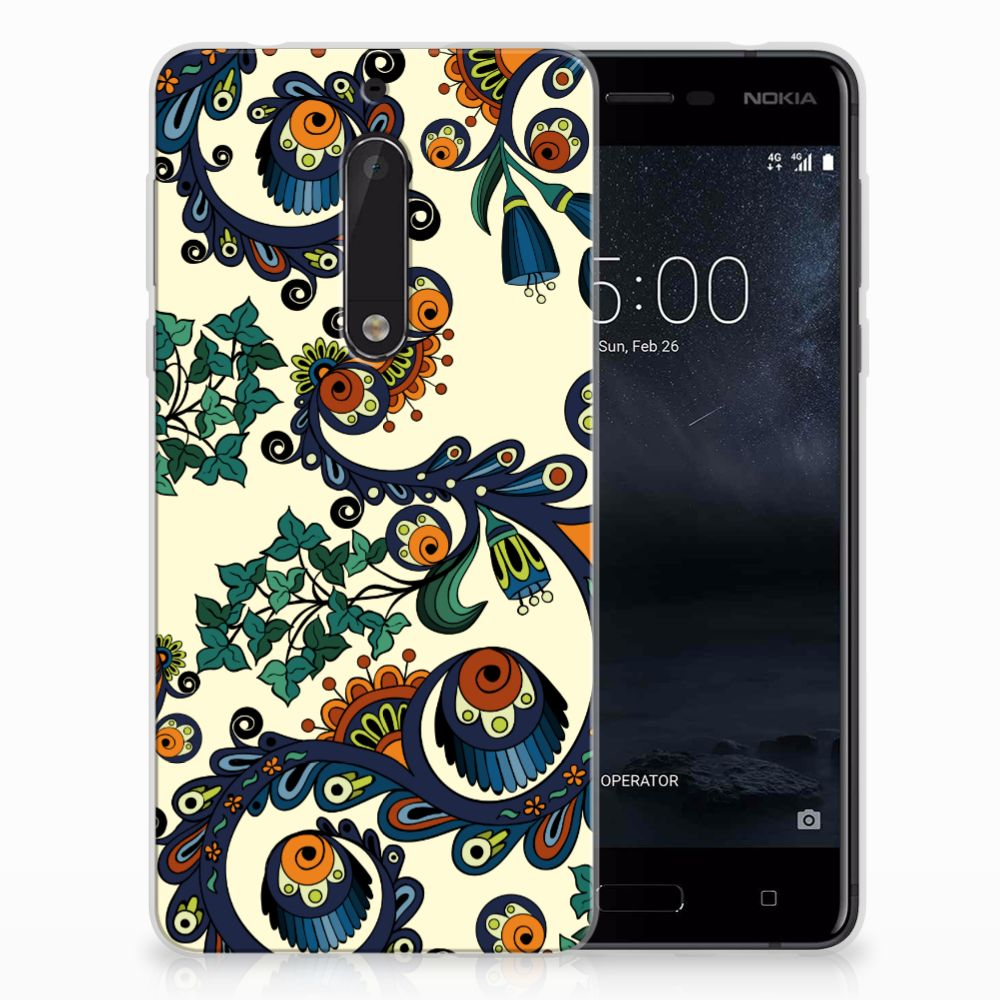 Nokia 5 TPU Hoesje Design Barok Flower