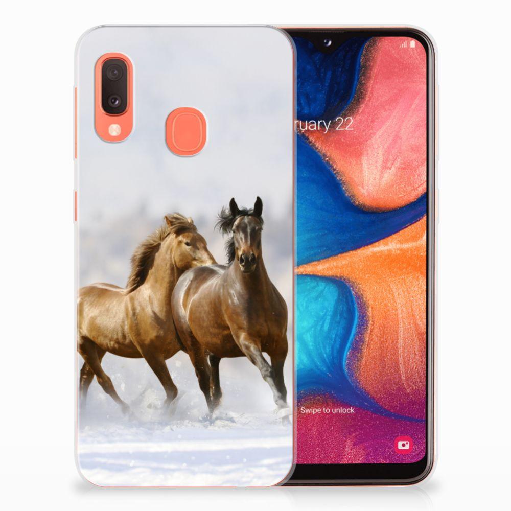 Samsung Galaxy A20e Leuk Hoesje Paarden