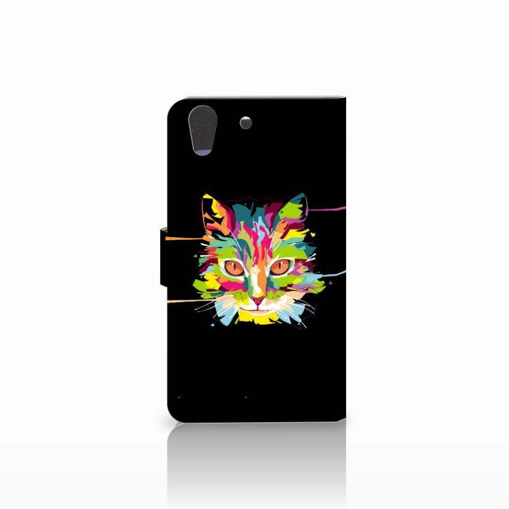 Huawei Y6 II   Honor 5A Leuke Hoesje Cat Color