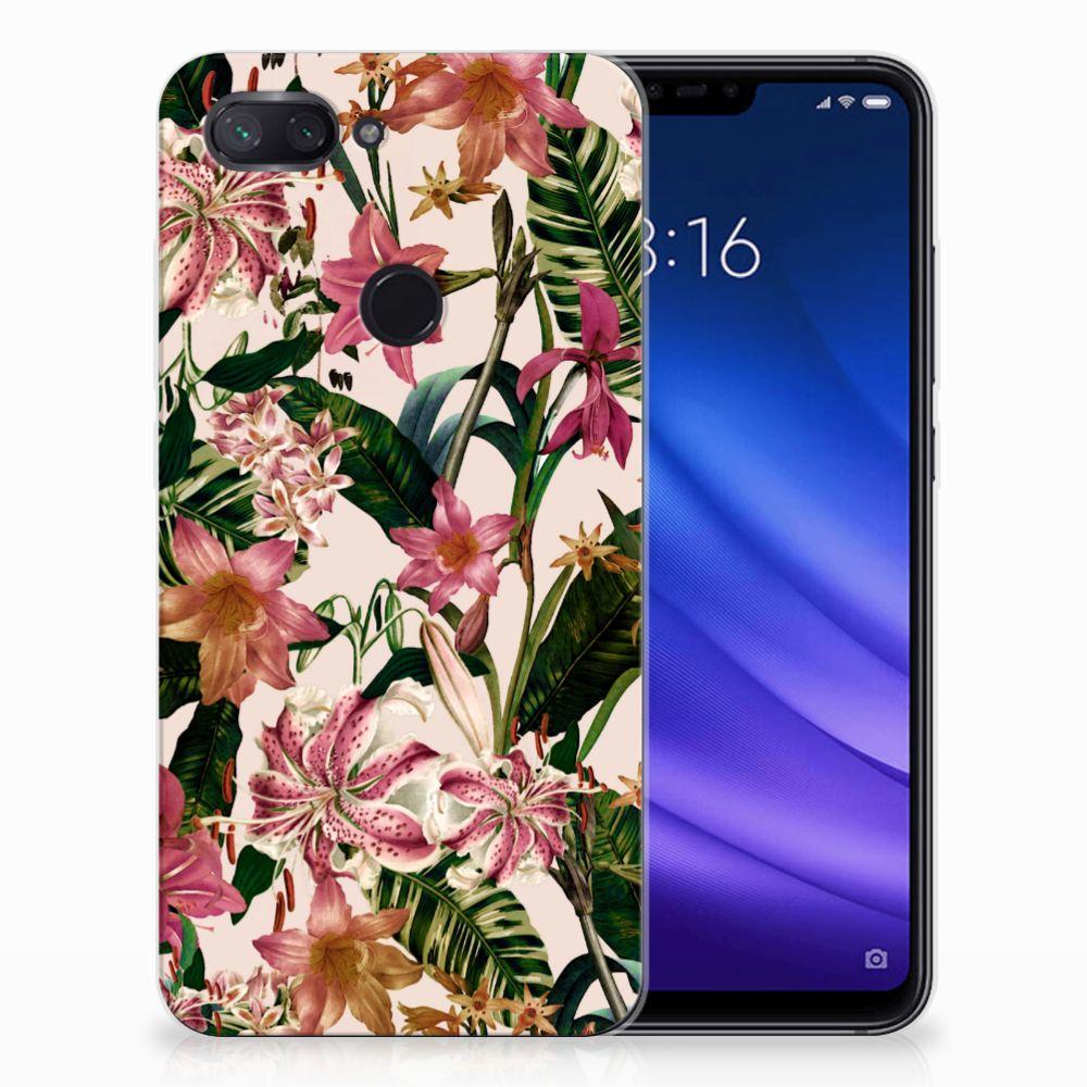 Xiaomi Mi 8 Lite Uniek TPU Hoesje Flowers