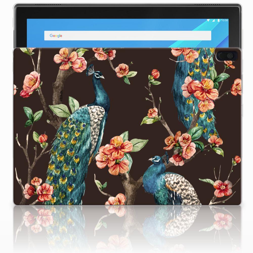 Lenovo Tab 4 10.1 Back Case Pauw met Bloemen