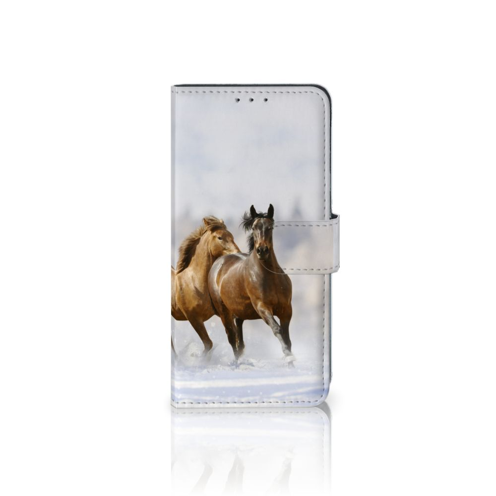 LG V40 Thinq Uniek Boekhoesje Paarden