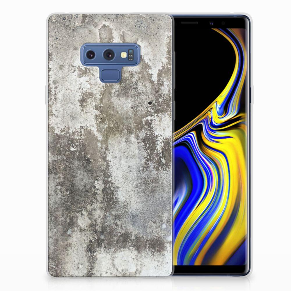 Samsung Galaxy Note 9 TPU Siliconen Hoesje Beton Print
