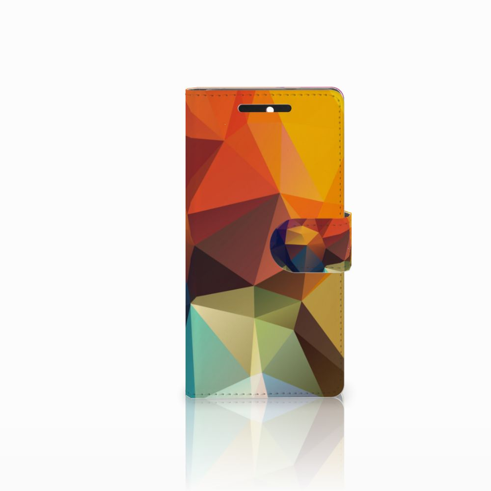 HTC Desire 628 Boekhoesje Design Polygon Color