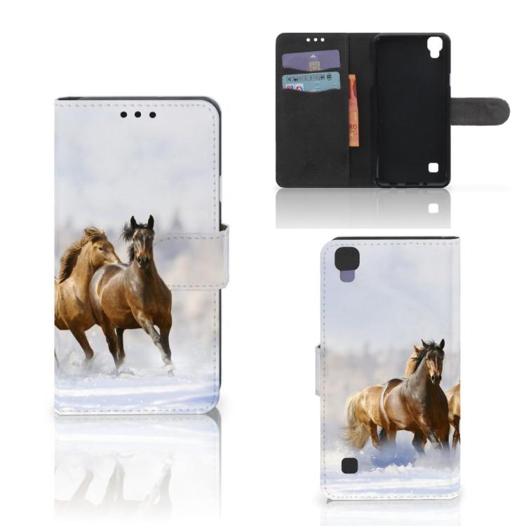 LG X Style Telefoonhoesje met Pasjes Paarden