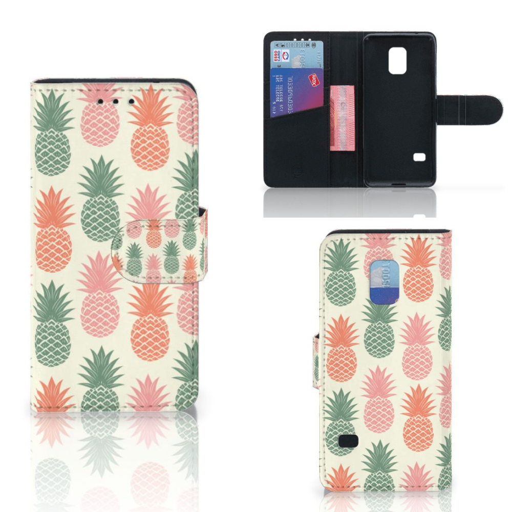 Samsung Galaxy S5 Mini Book Cover Ananas