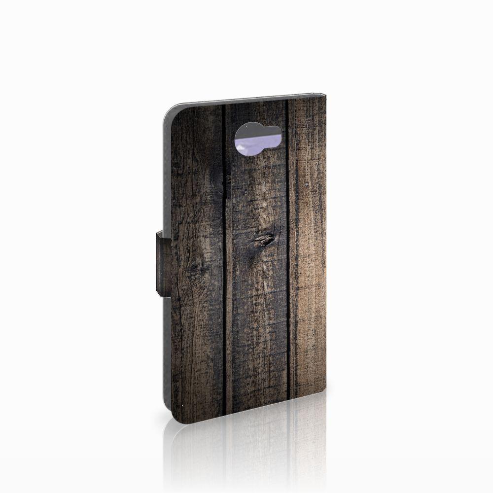 Huawei Y5 2 | Y6 II Compact Boekhoesje Design Steigerhout