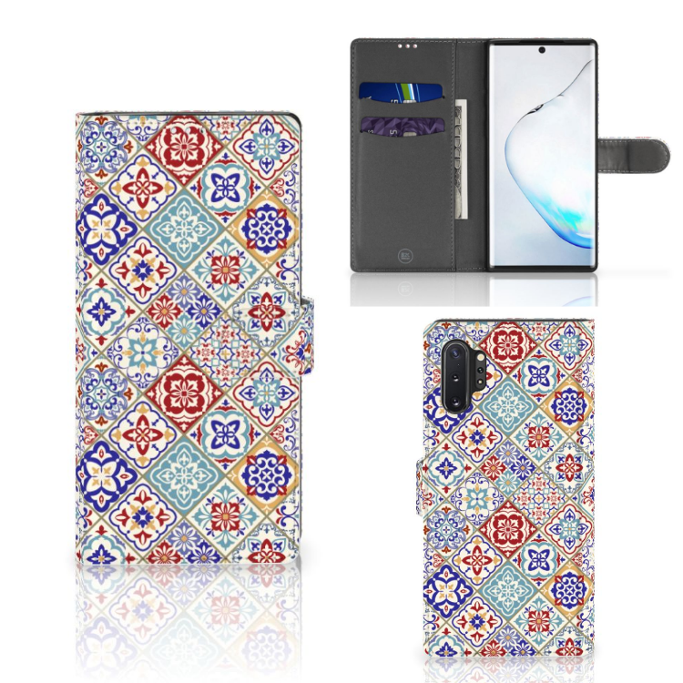 Samsung Galaxy Note 10 Plus Bookcase Tiles Color