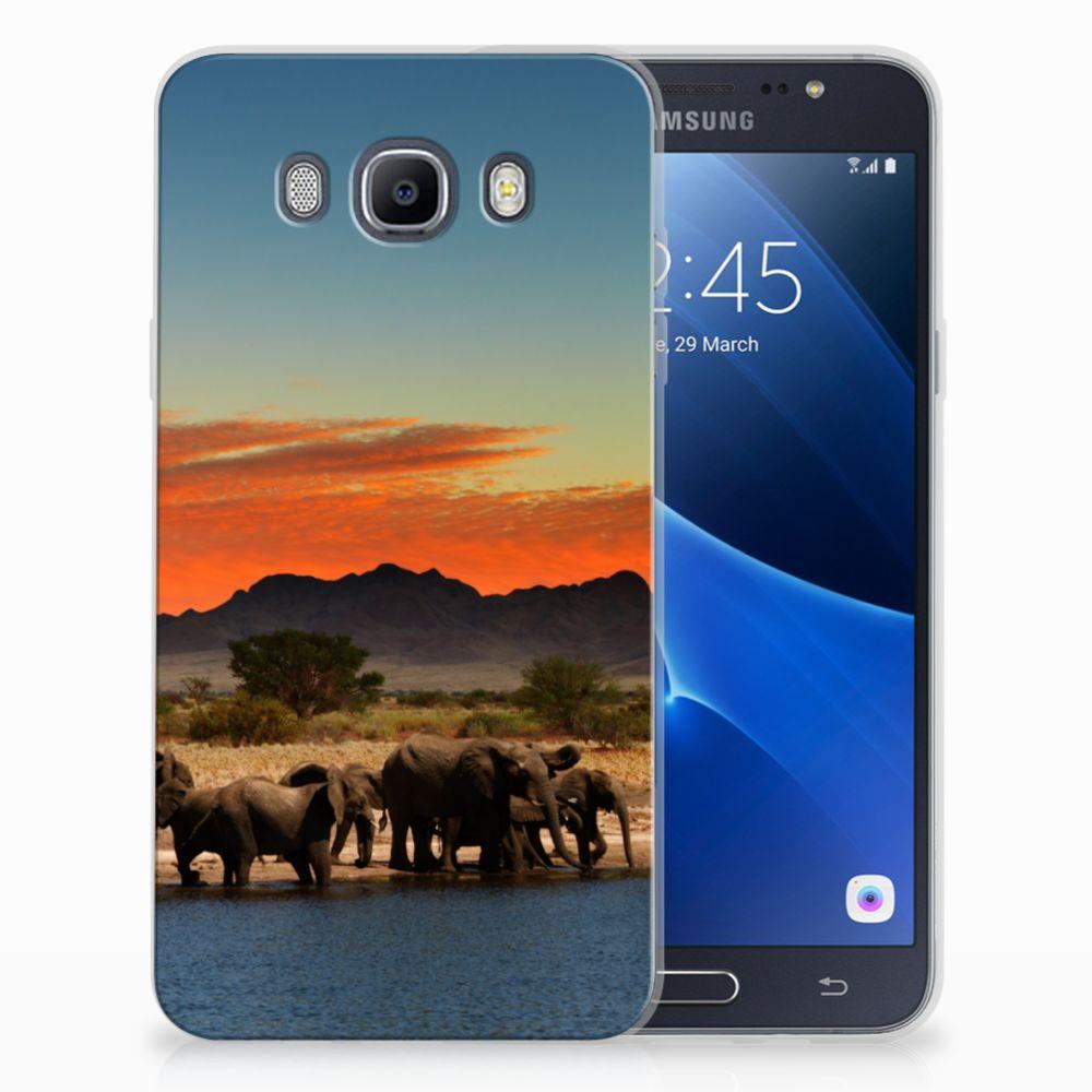Samsung Galaxy J7 2016 TPU Hoesje Design Olifanten