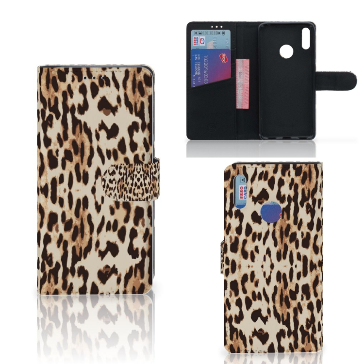 Huawei Y7 Pro | Y7 Prime (2019) Telefoonhoesje met Pasjes Leopard