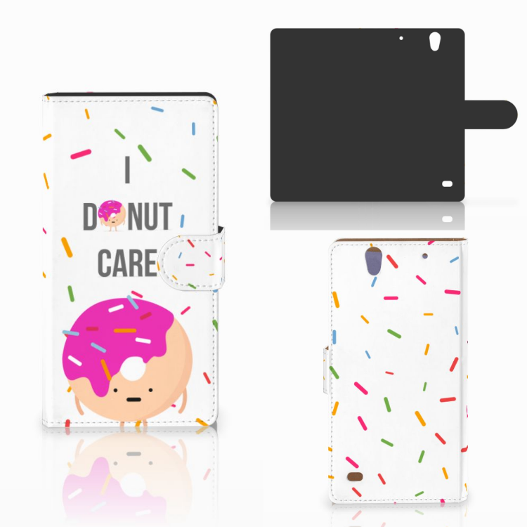 Sony Xperia C4 Book Cover Donut Roze