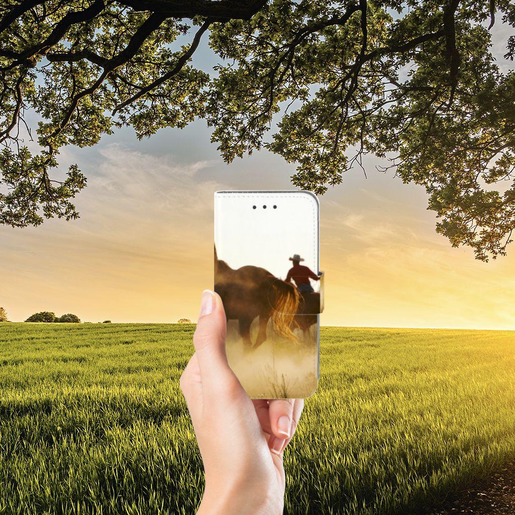 Samsung Galaxy J3 2016 Telefoonhoesje met Pasjes Design Cowboy