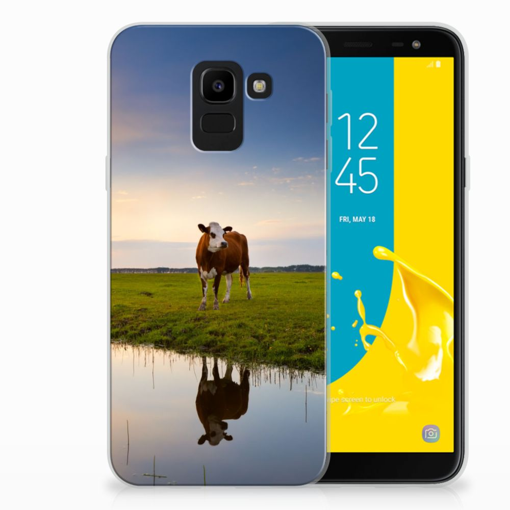 Samsung Galaxy J6 2018 TPU Hoesje Design Koe