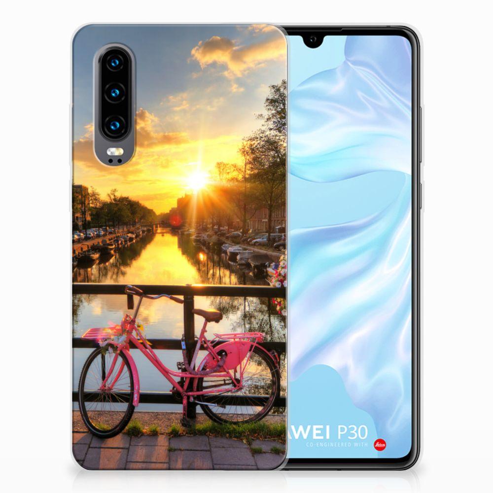 Huawei P30 Uniek TPU Hoesje Amsterdamse Grachten