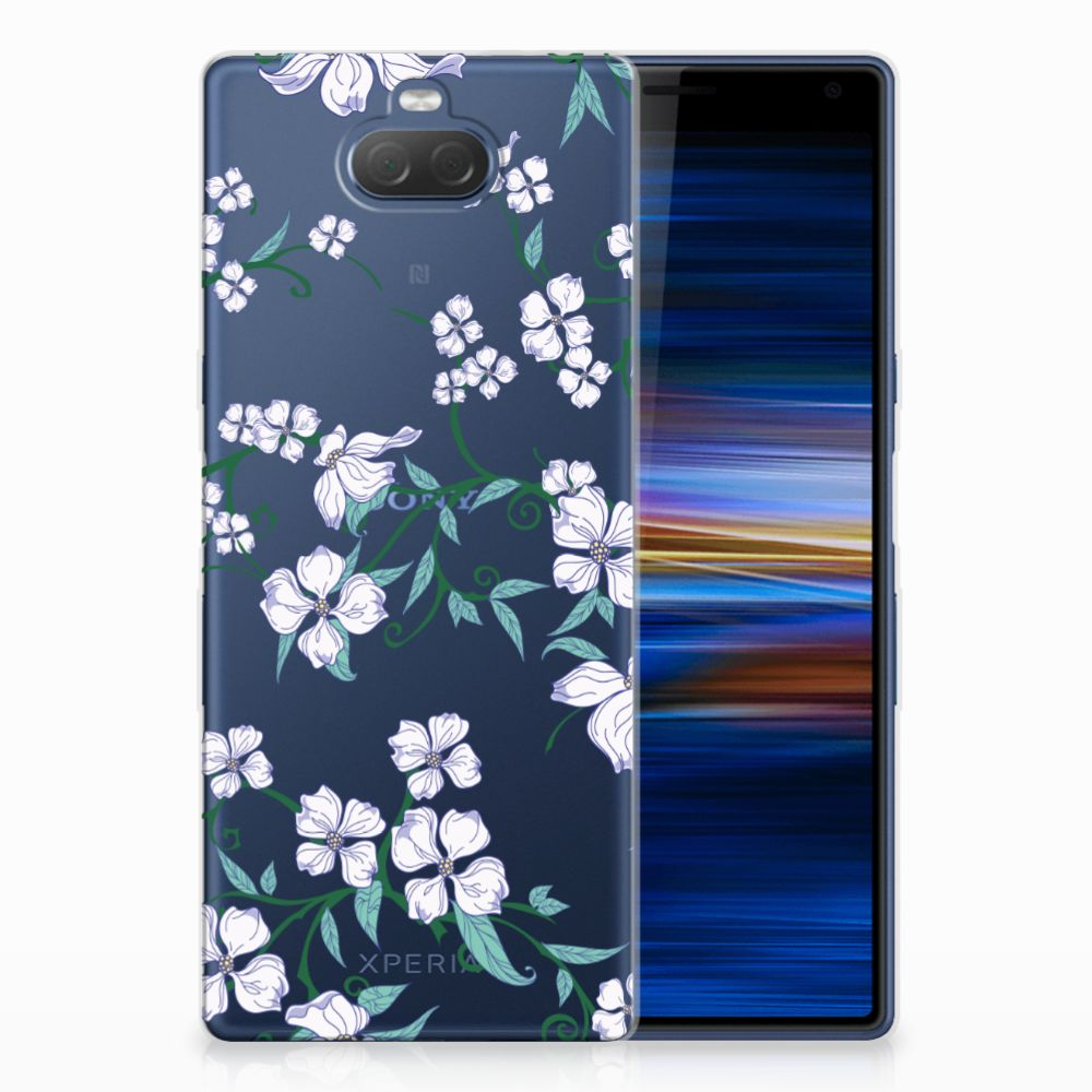 Sony Xperia 10 Plus Uniek TPU Hoesje Blossom White