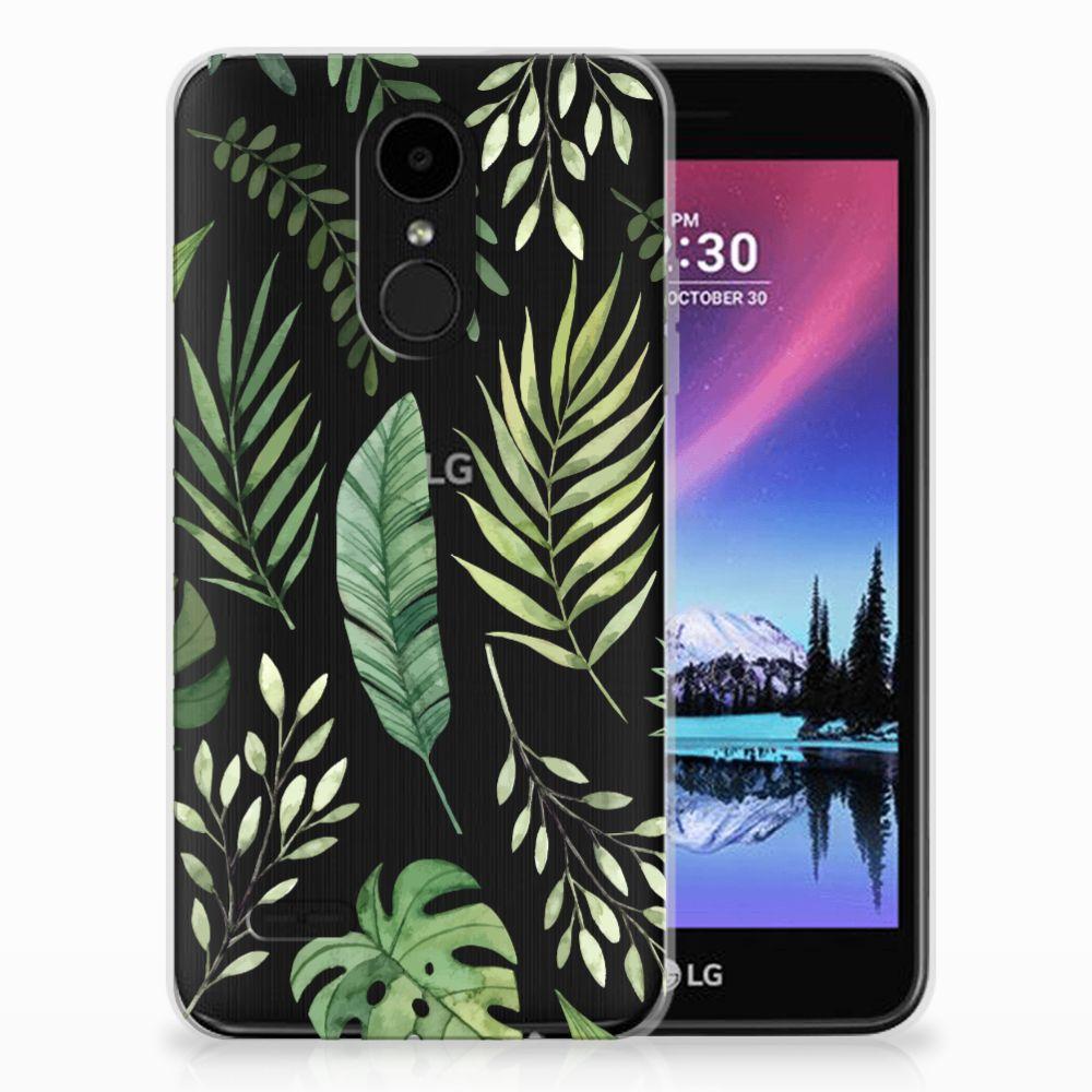 LG K4 (2017) Uniek TPU Hoesje Leaves