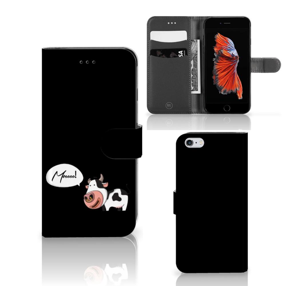 Apple iPhone 6 Plus   6s Plus Leuke Hoesje Cow