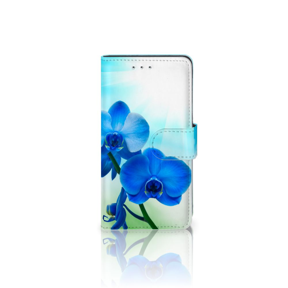 Motorola Moto G 3e Generatie Boekhoesje Design Orchidee Blauw