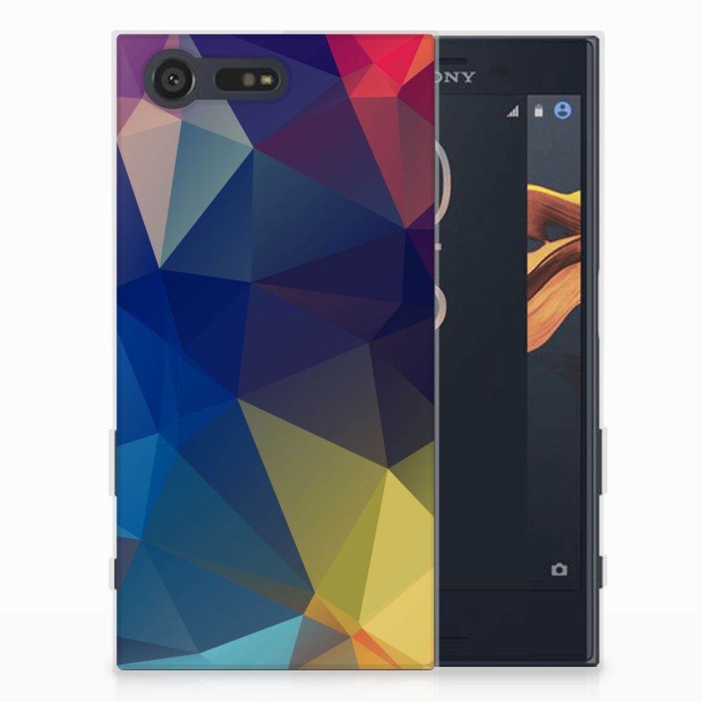 Sony Xperia X Compact Uniek TPU Hoesje Polygon Dark