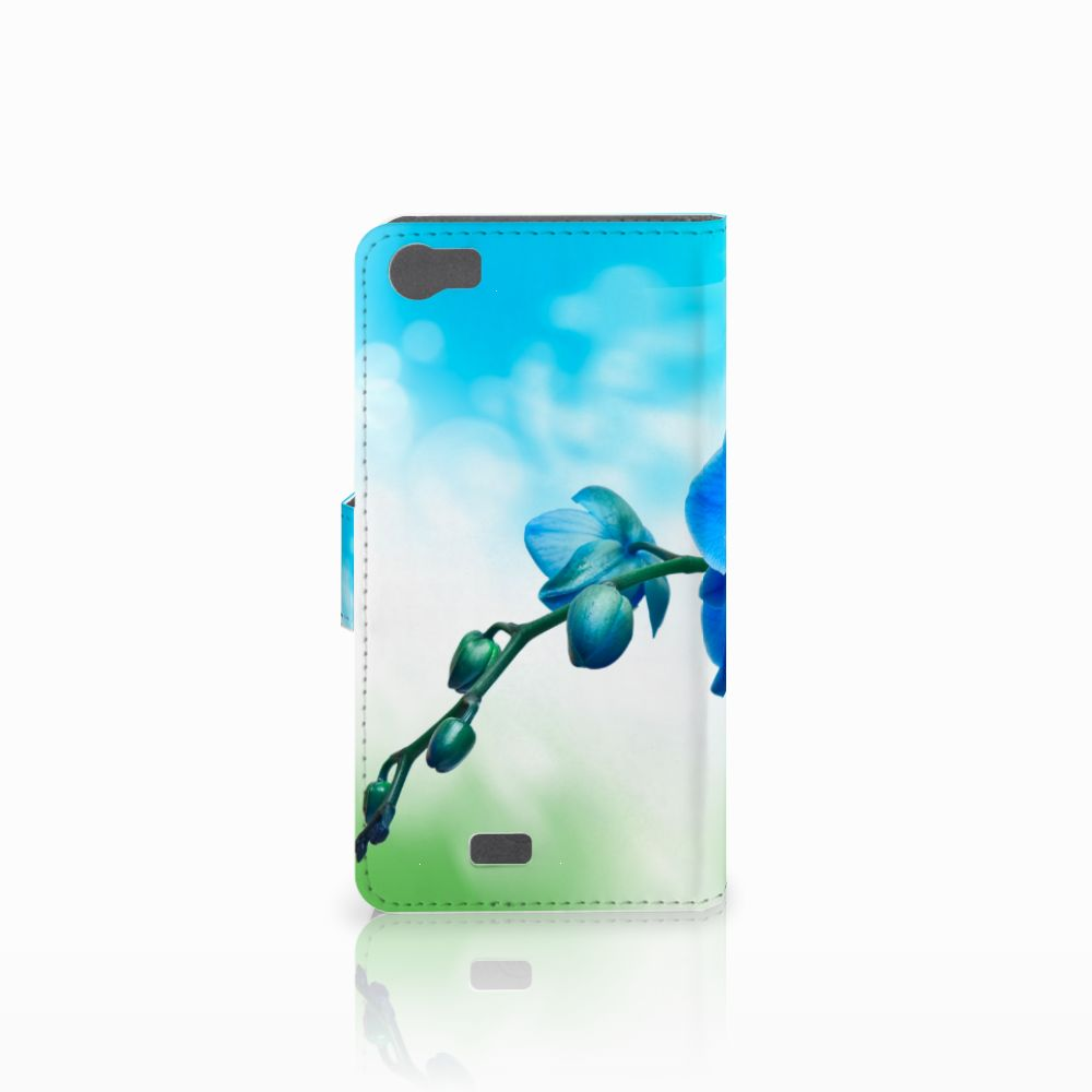 Wiko Lenny Hoesje Orchidee Blauw