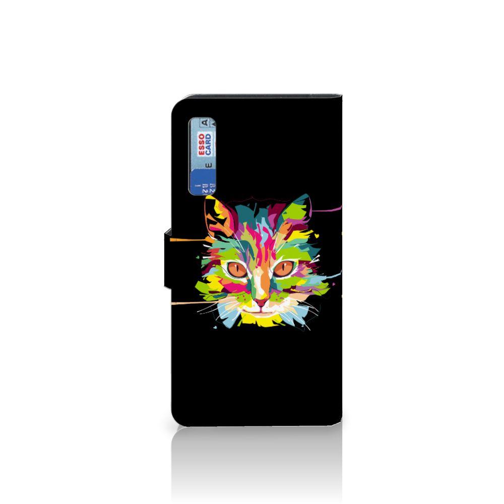 Samsung Galaxy A7 (2018) Leuke Hoesje Cat Color