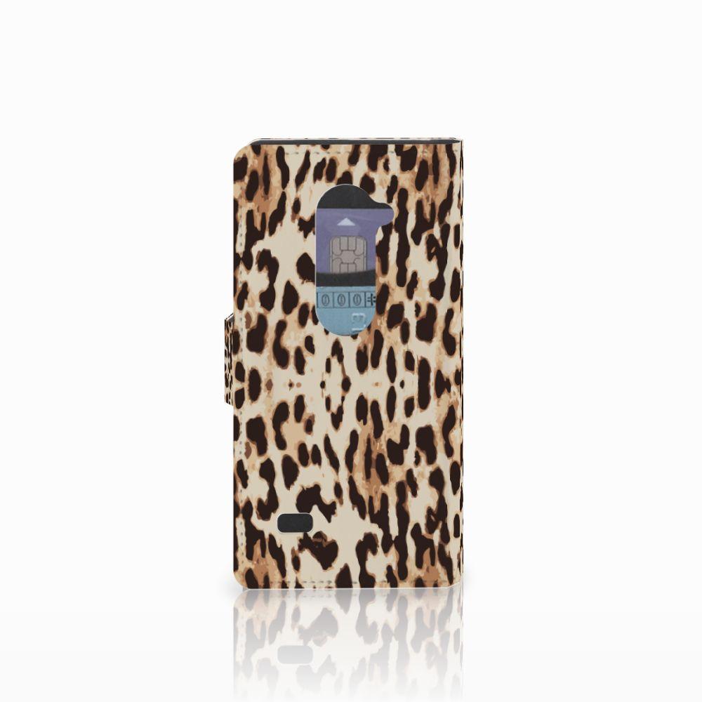 LG Leon 4G Telefoonhoesje met Pasjes Leopard