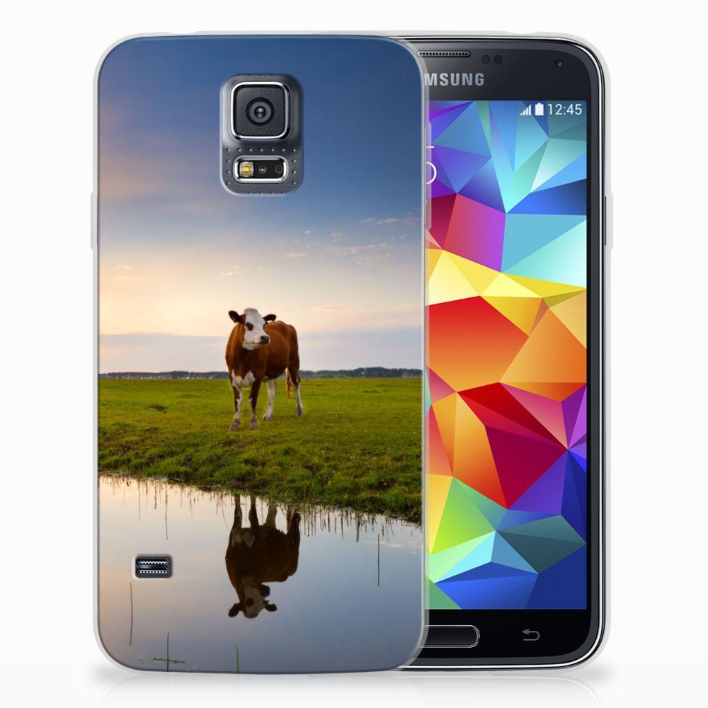 Samsung Galaxy S5 TPU Hoesje Design Koe