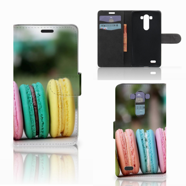 LG G3 Book Cover Macarons