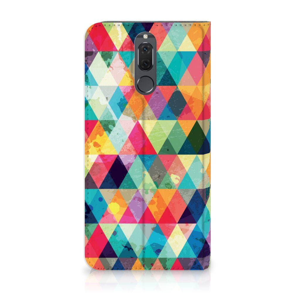 Huawei Mate 10 Lite Uniek Standcase Hoesje Geruit
