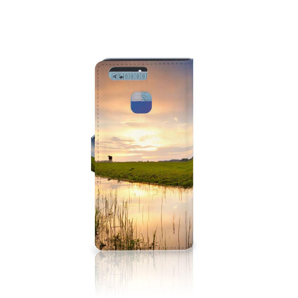 Huawei P9 Telefoonhoesje met Pasjes Koe