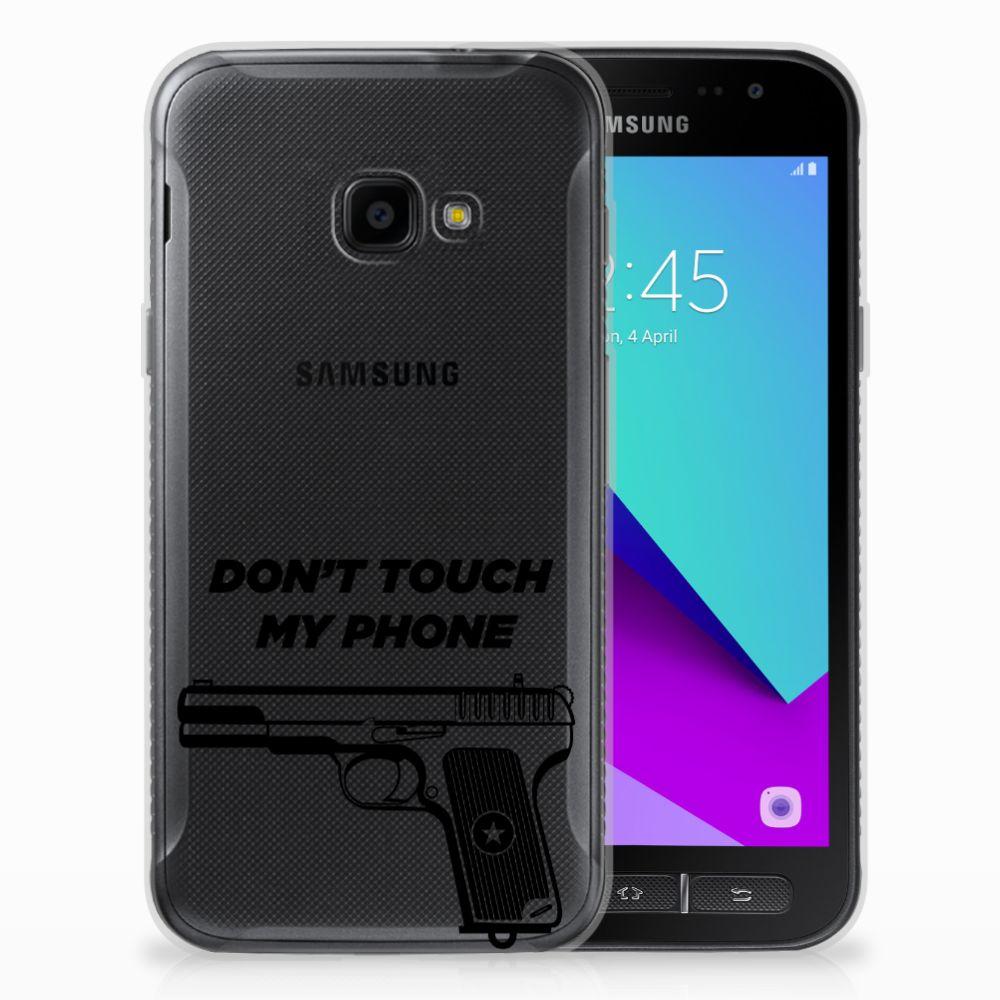 Samsung Galaxy Xcover 4 Uniek TPU Hoesje Pistol DTMP