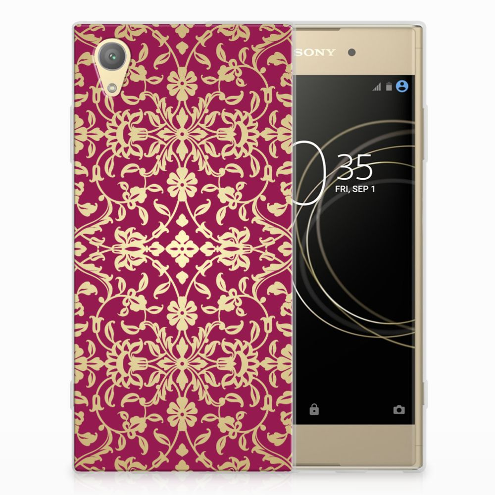 Siliconen Hoesje Sony Xperia XA1 Plus Barok Pink