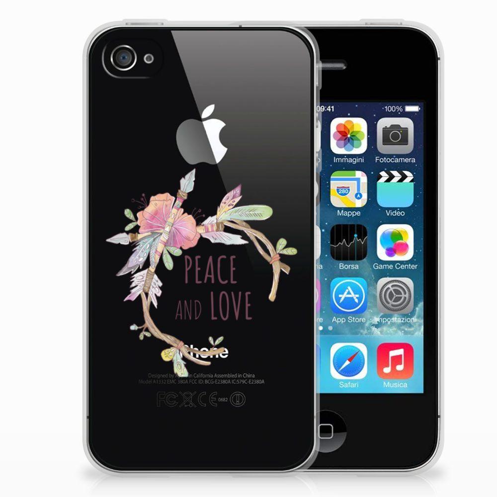 Apple iPhone 4 | 4s Telefoonhoesje met Naam Boho Text