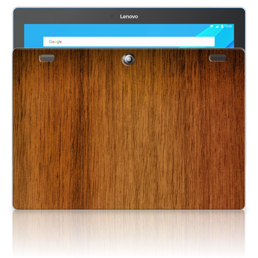 Lenovo Tab 10 | Tab 2 A10-30 Silicone Tablet Hoes Donker Hout