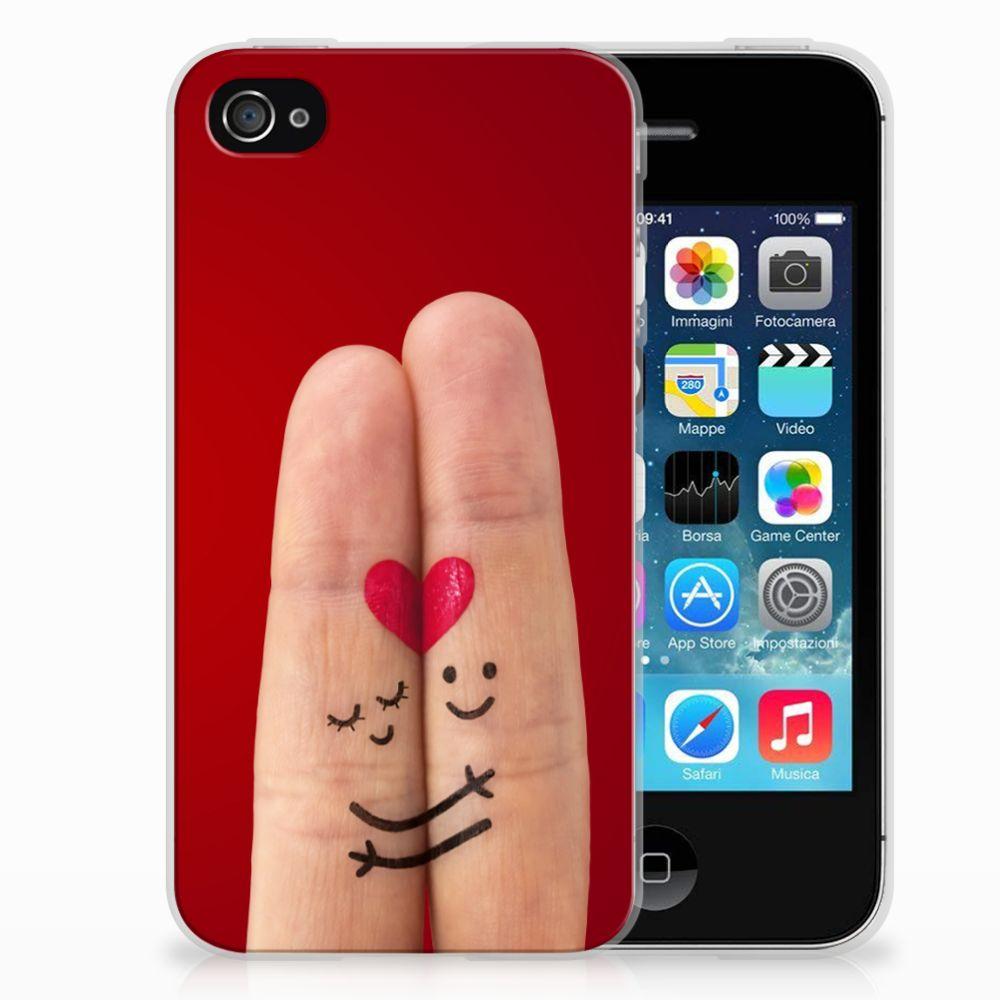 Apple iPhone 4   4s Silicone Back Cover Liefde - Origineel Romantisch Cadeau