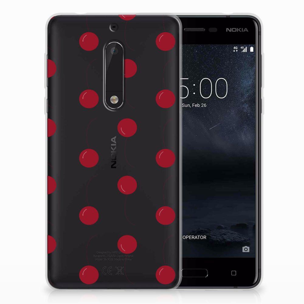 Nokia 5 Siliconen Case Cherries