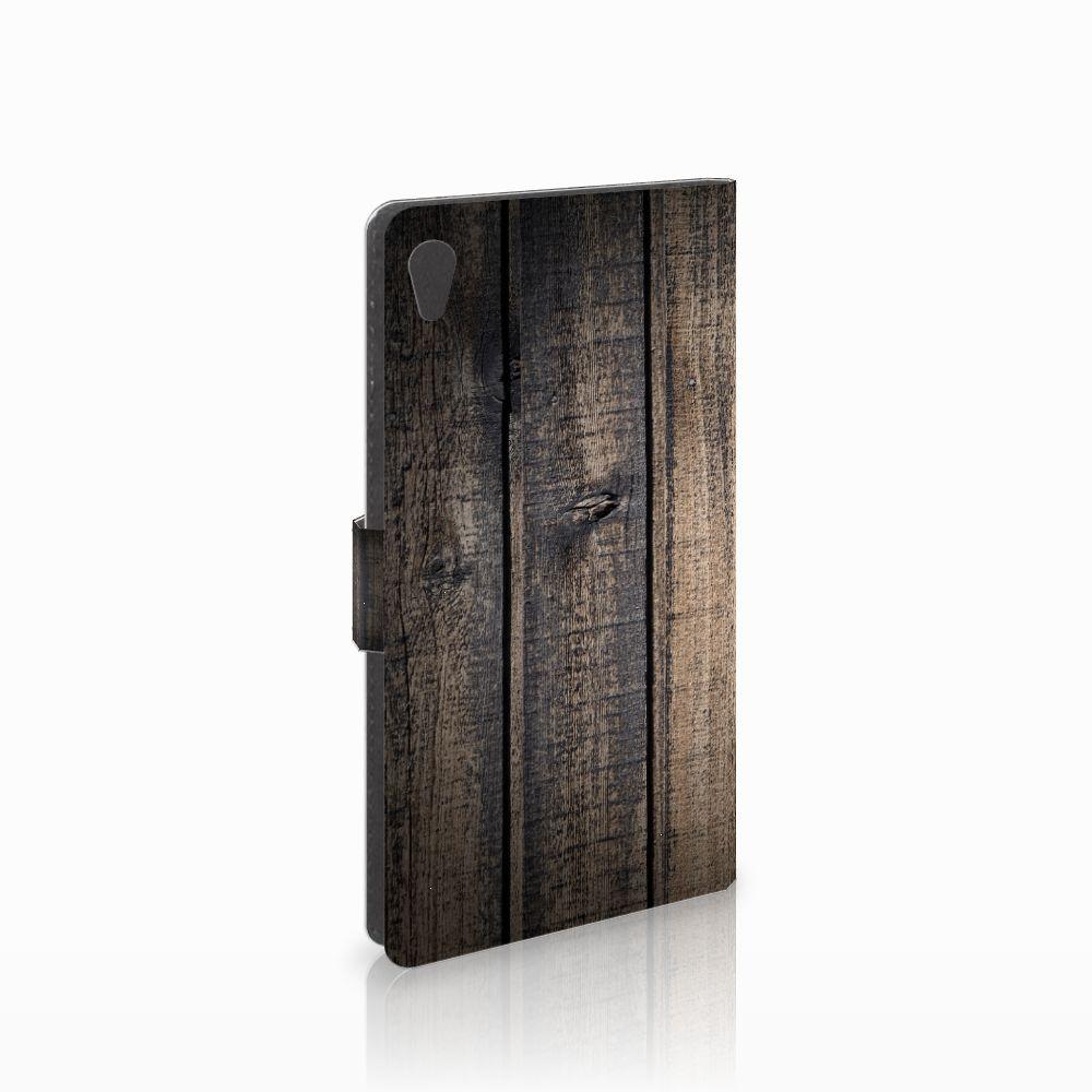 Sony Xperia XA Ultra Boekhoesje Design Steigerhout